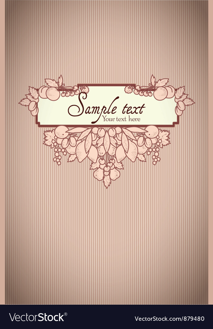 Beautiful card with fruits vector image