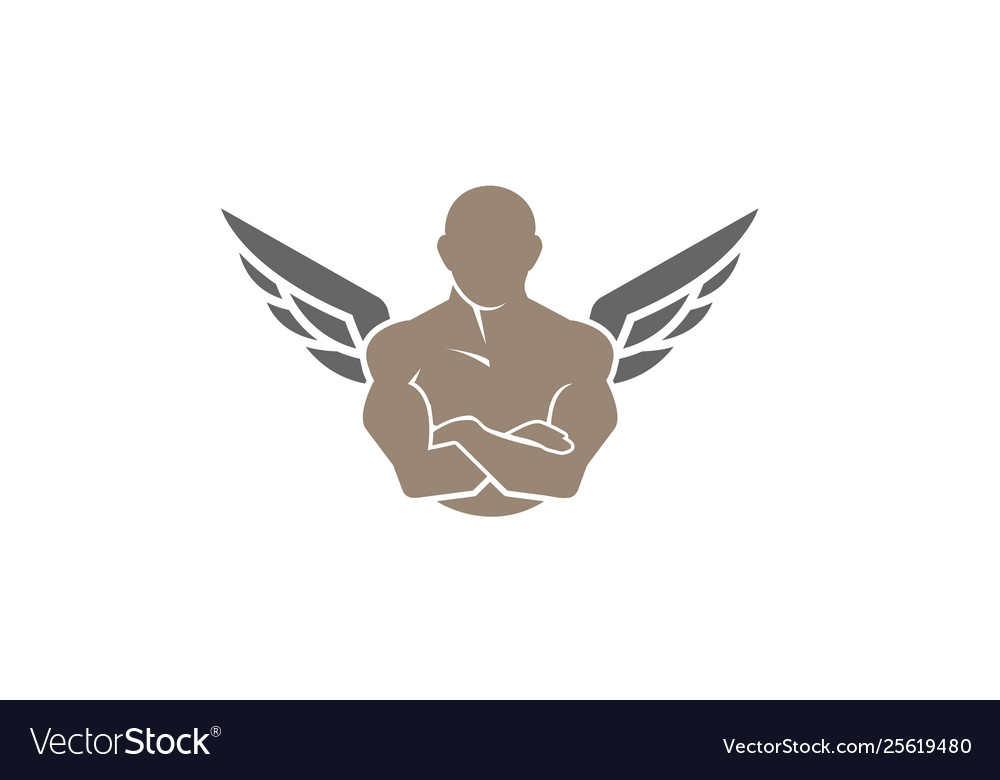 Creative gym and fitness bodybuilder body wing