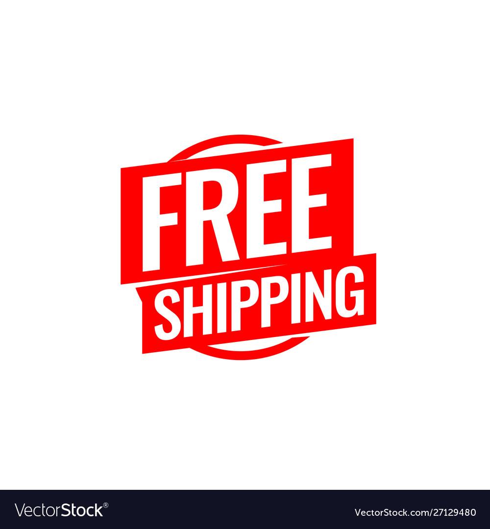 Free shipping symbol flat style