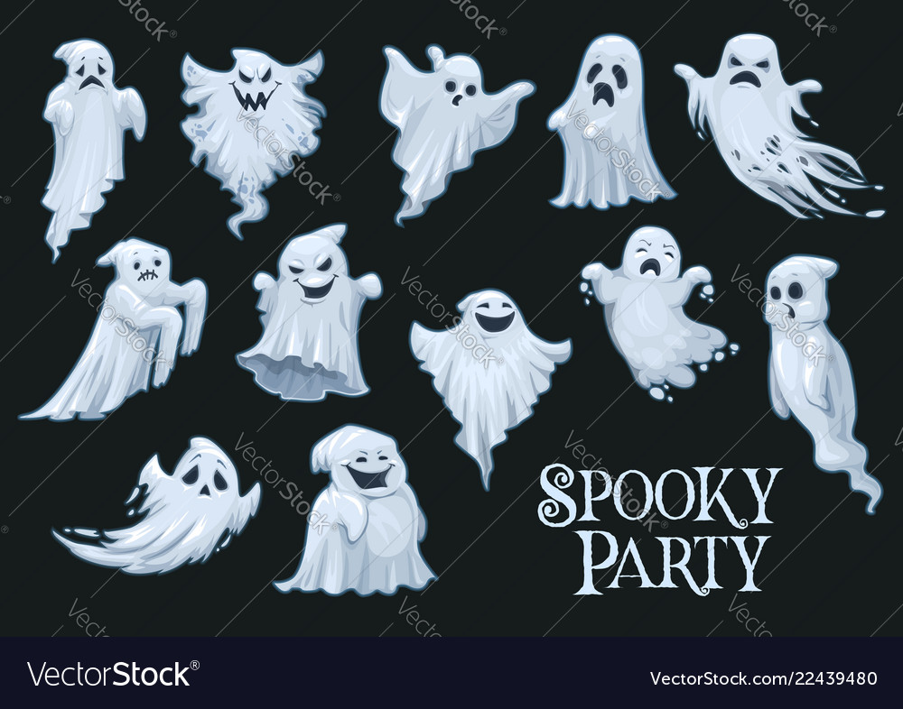 Halloween scary ghosts spooky party