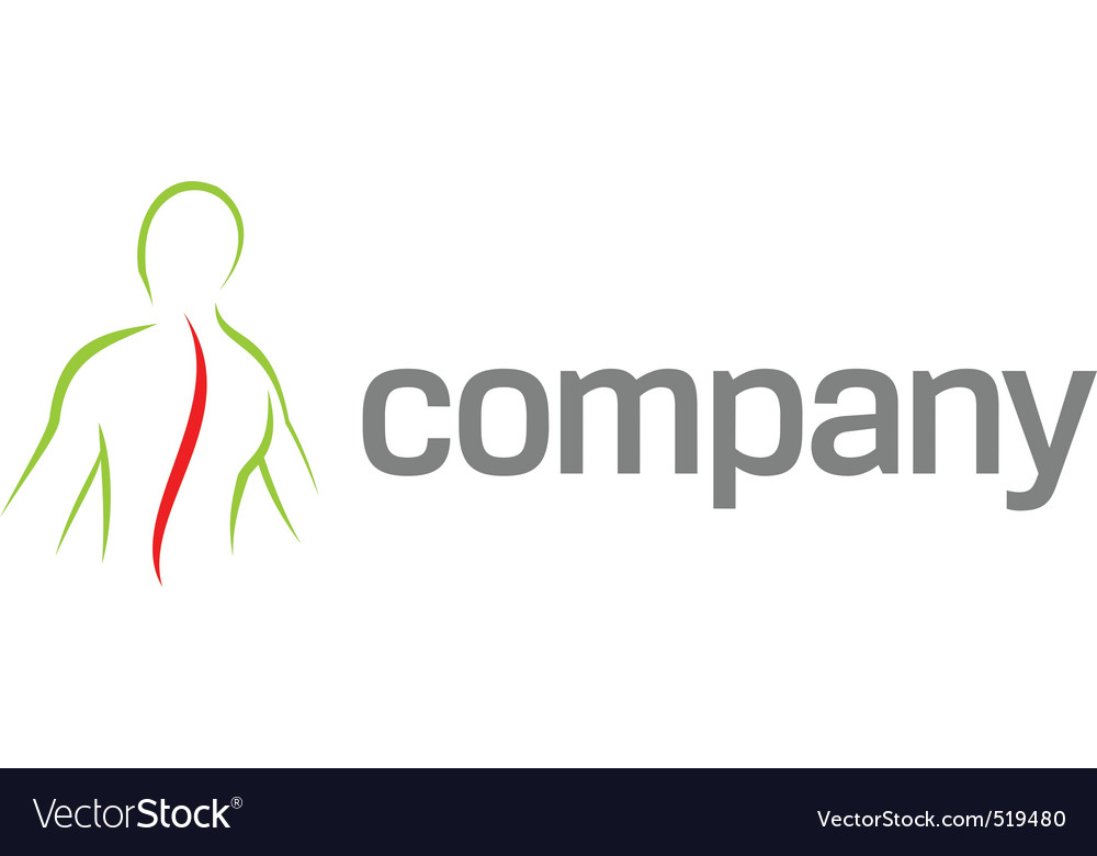 Pain in back logo vector image