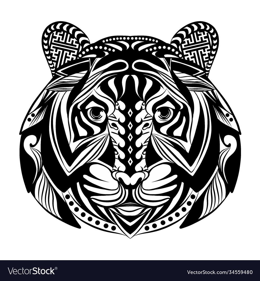 Tiger full ornament for tattoo