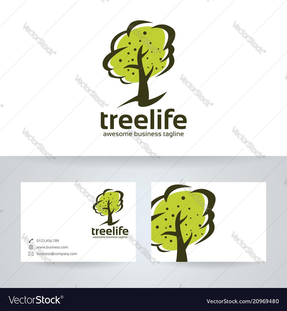 Tree Life Logo Design Royalty Free Vector Image