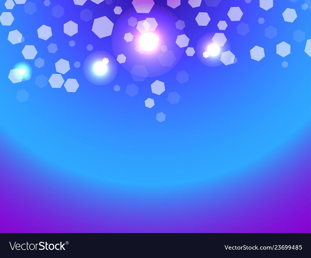 Abstract light background bokeh effect hexagons