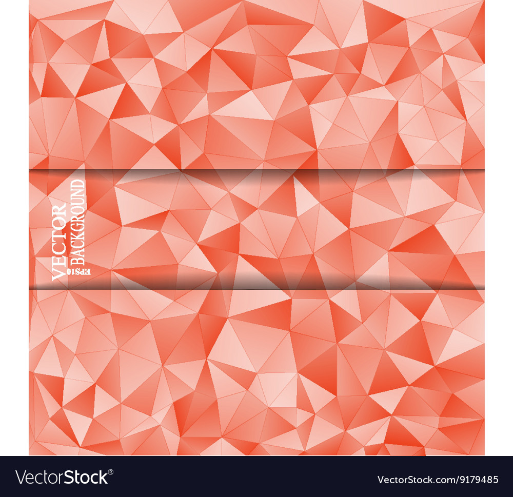 Abstract triangle background with a place
