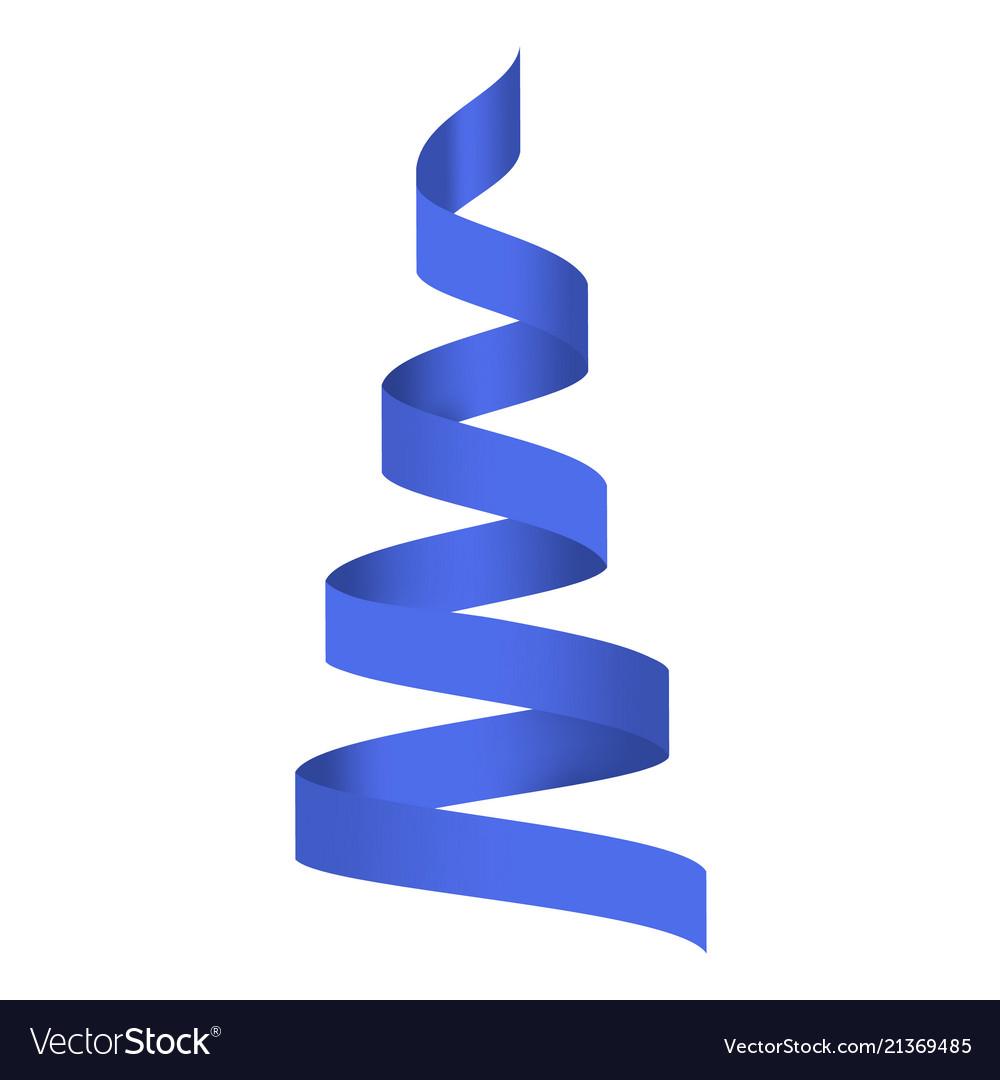 Blue serpentine mockup realistic style
