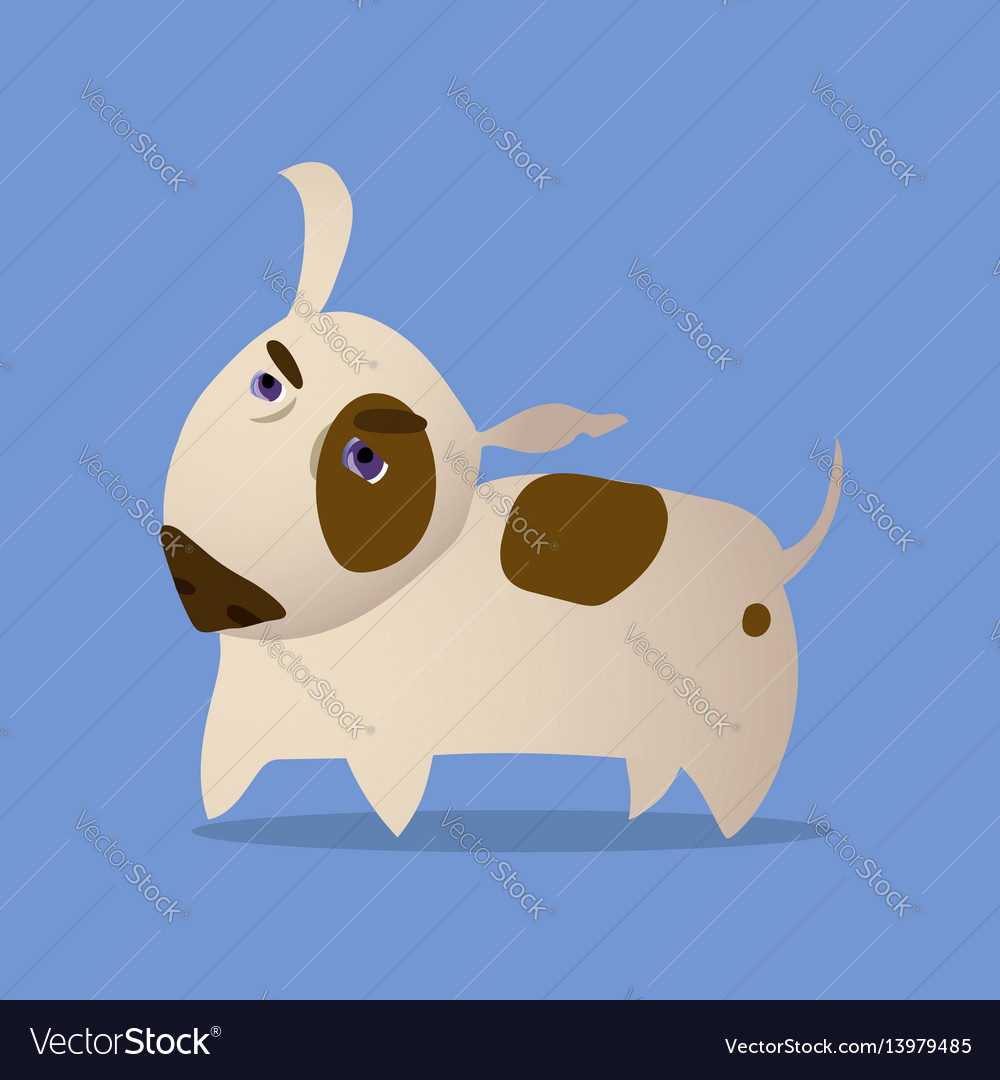 Cartoon of bull terrier dog