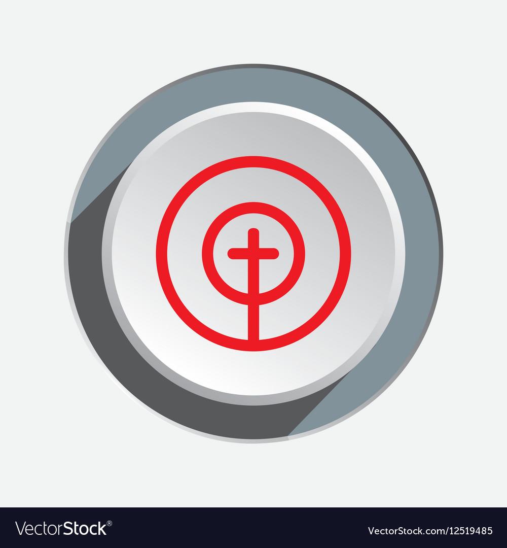 Crosshair sign icon Target end objektive aim