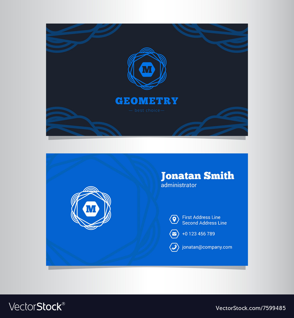 Elegant Business Card Template With Royalty Free Vector