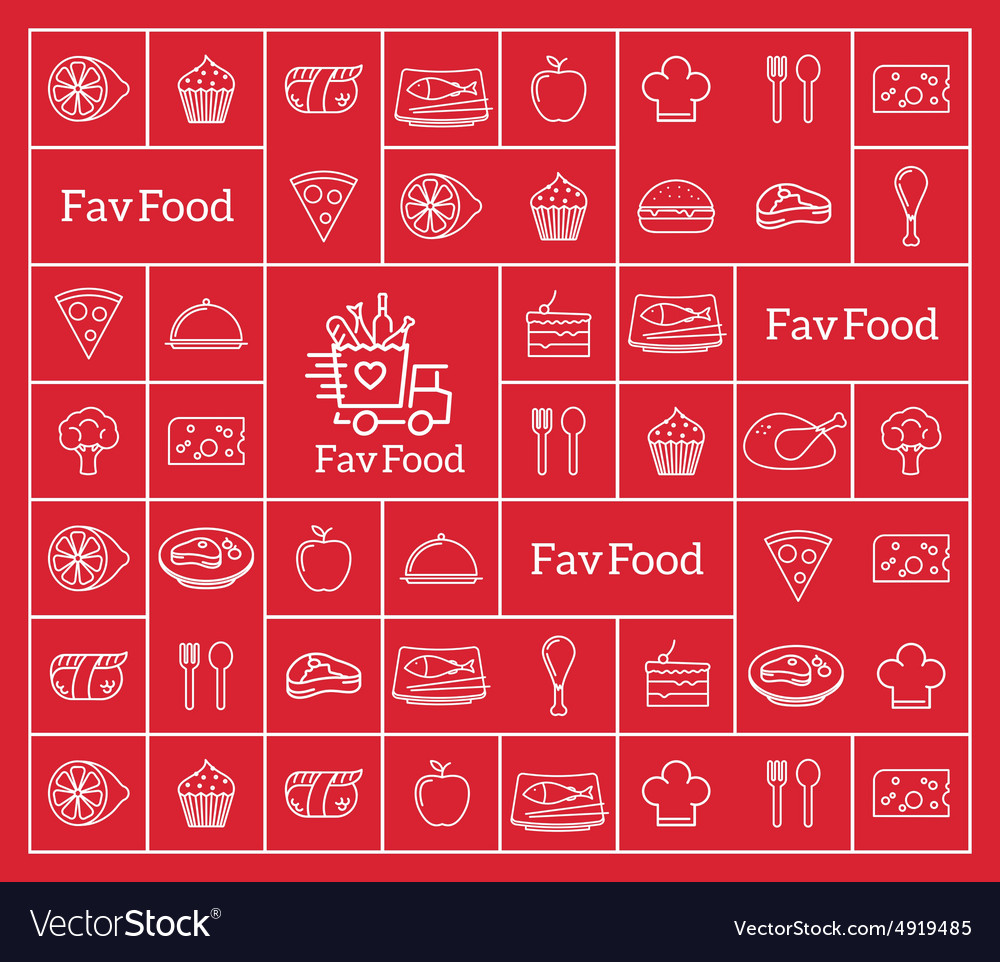 Favorite Food Delivery Abstract Logo