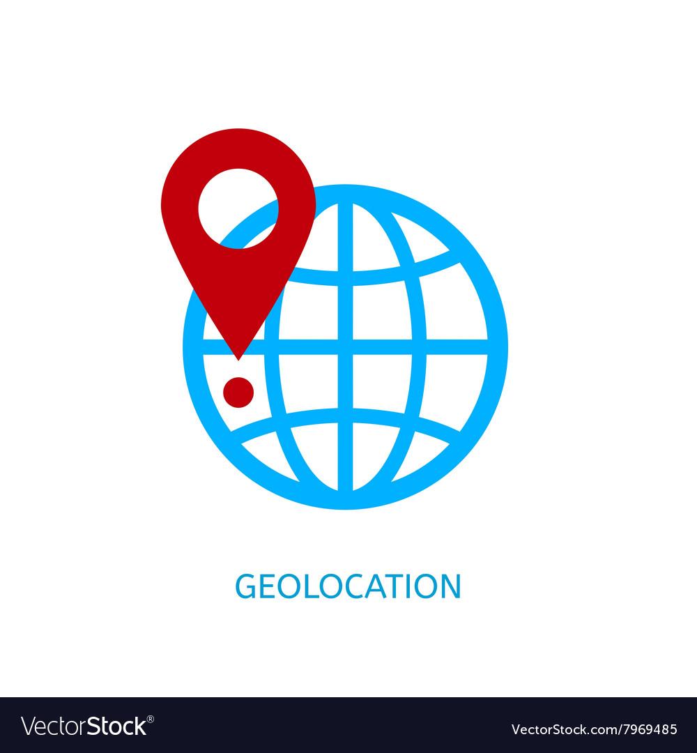 Geolocation icon vector image