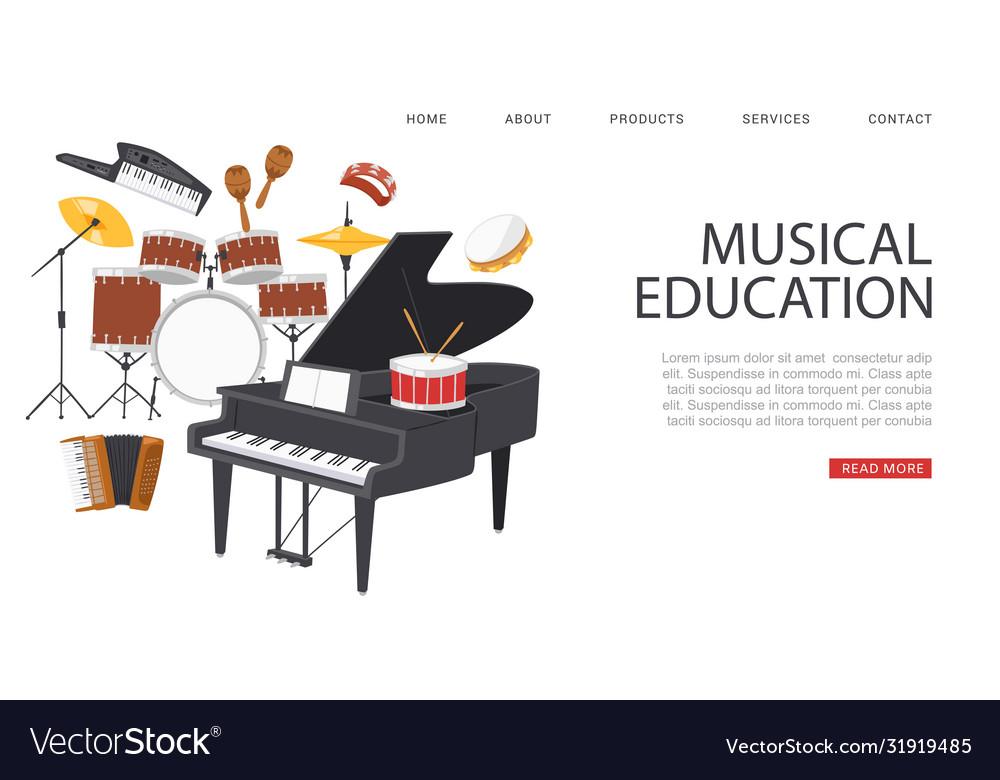 Inscription musical education banner ad