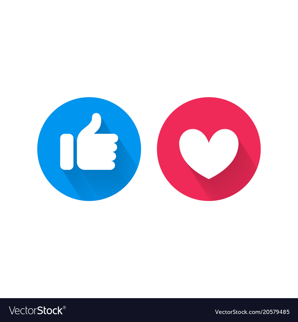 Like Heart Icons For Live Video Chat Royalty Free Vector