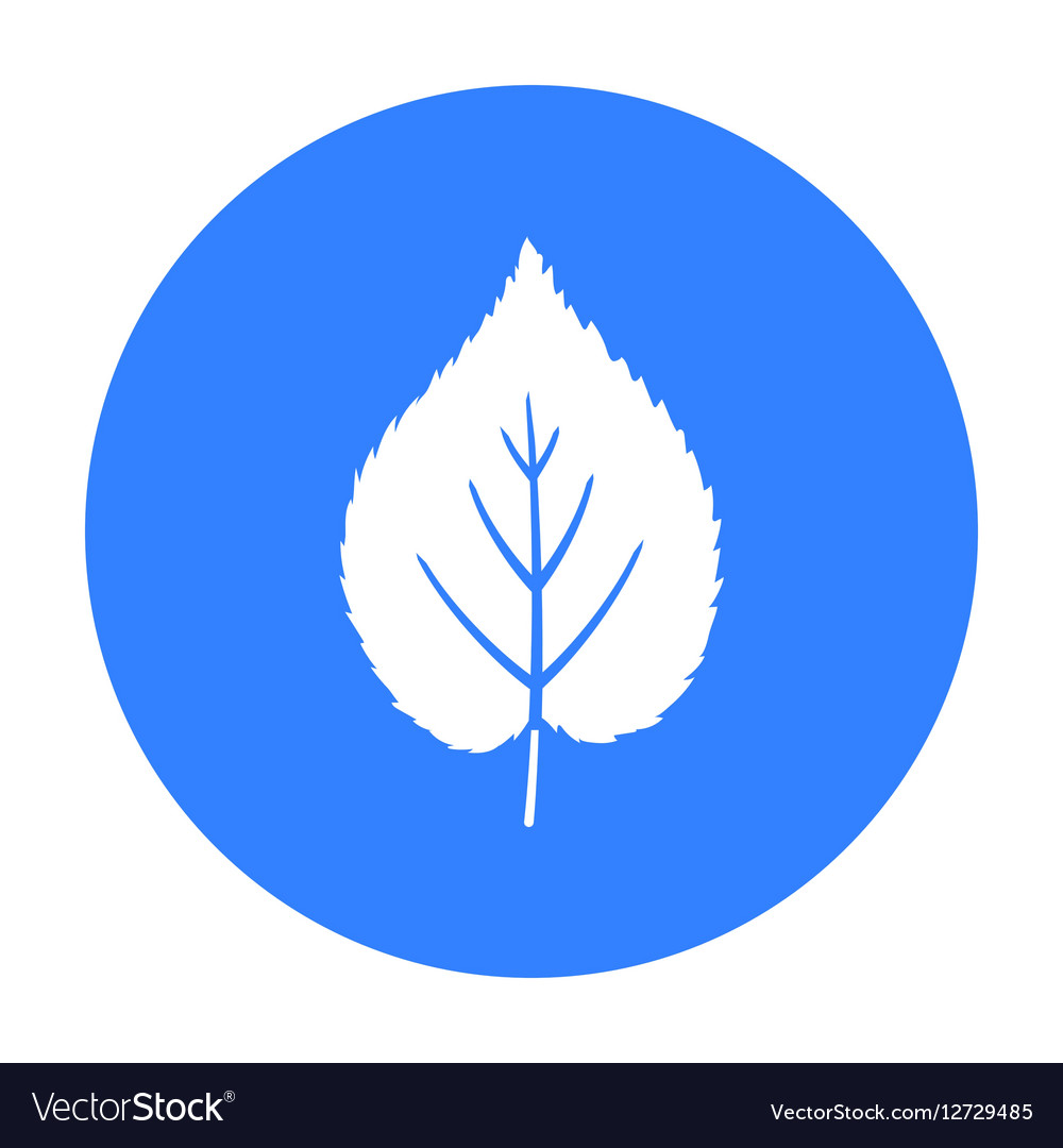 Linden leaf icon in black style for web