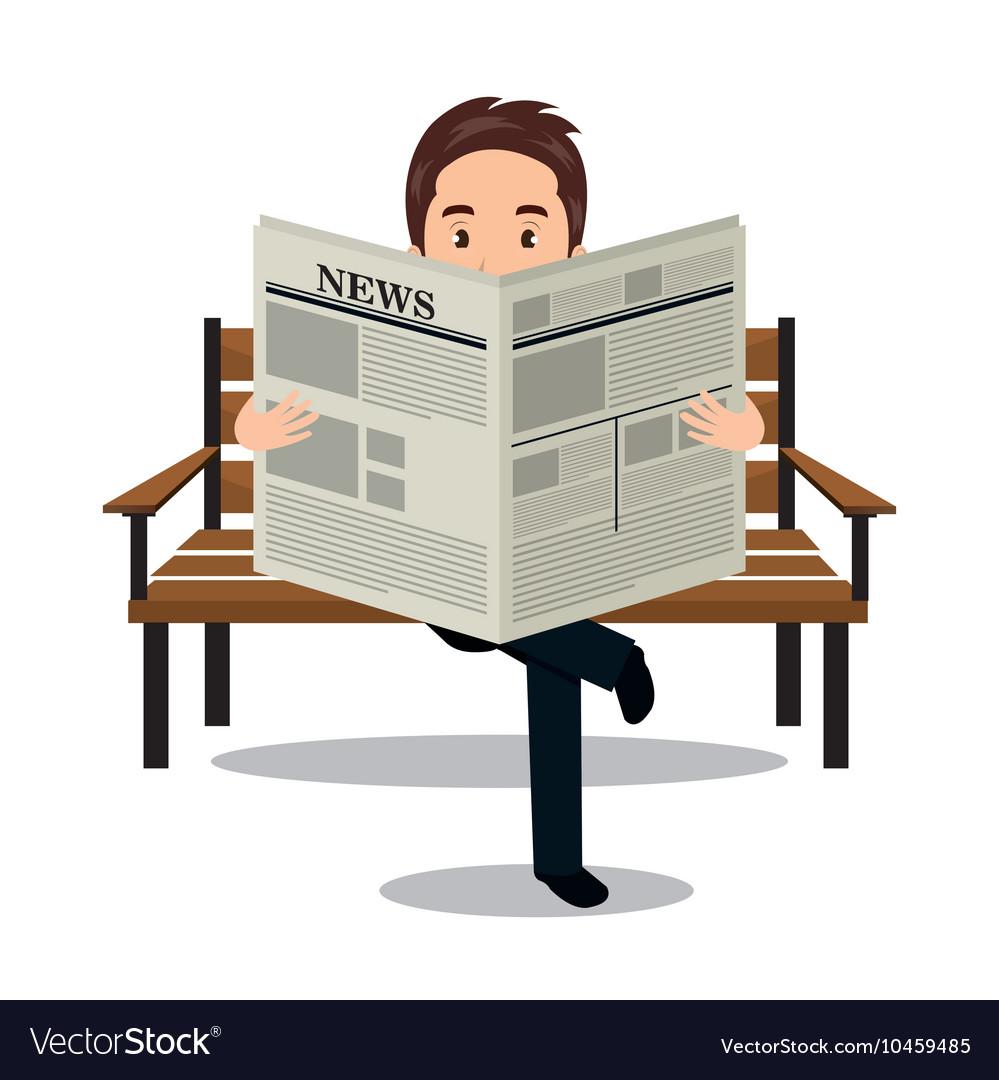 Reading Newspaper Icon