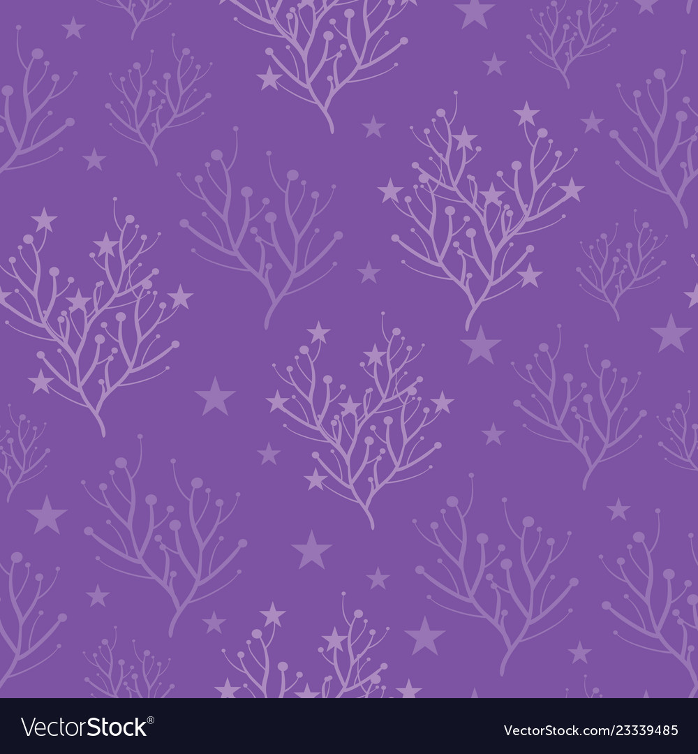 Purple trees and stars texture pattern