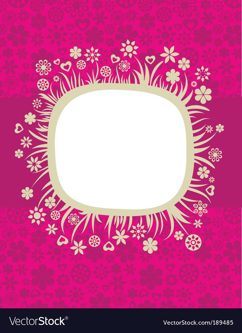 Retro card template