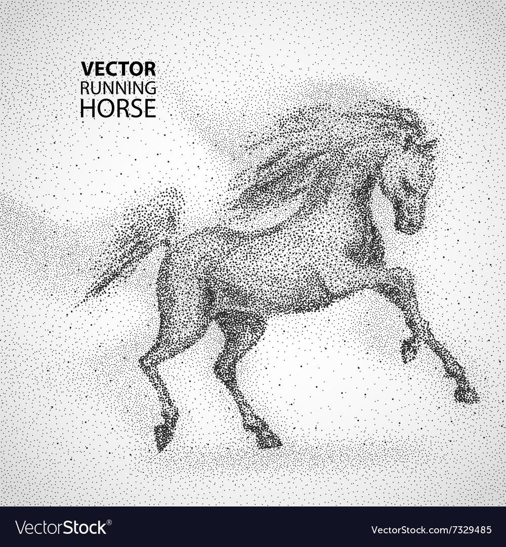 Running horse particles design