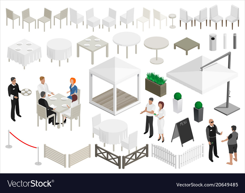 Set of isometry scheme of the restaurant