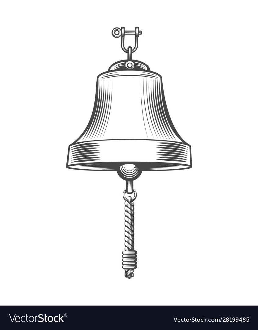 Ship bell engraving emblem