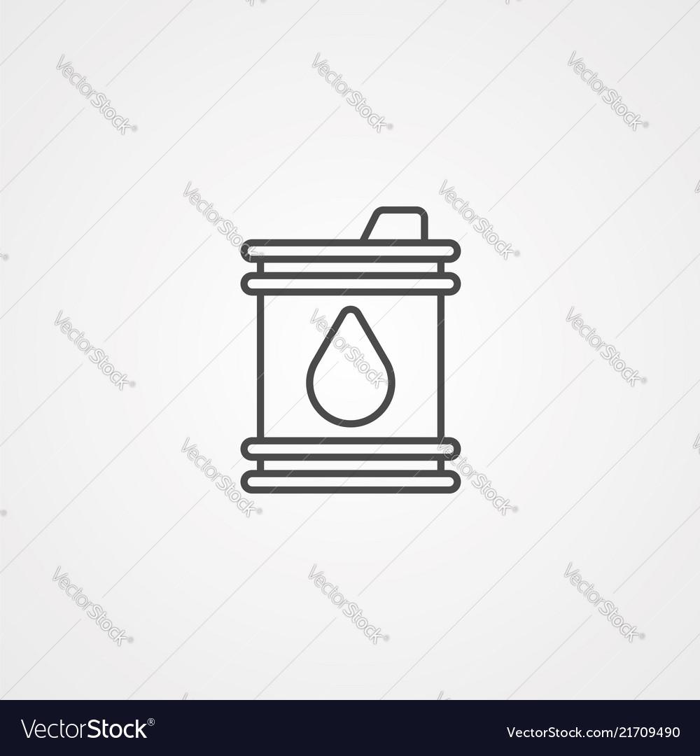 Barrel icon sign symbol