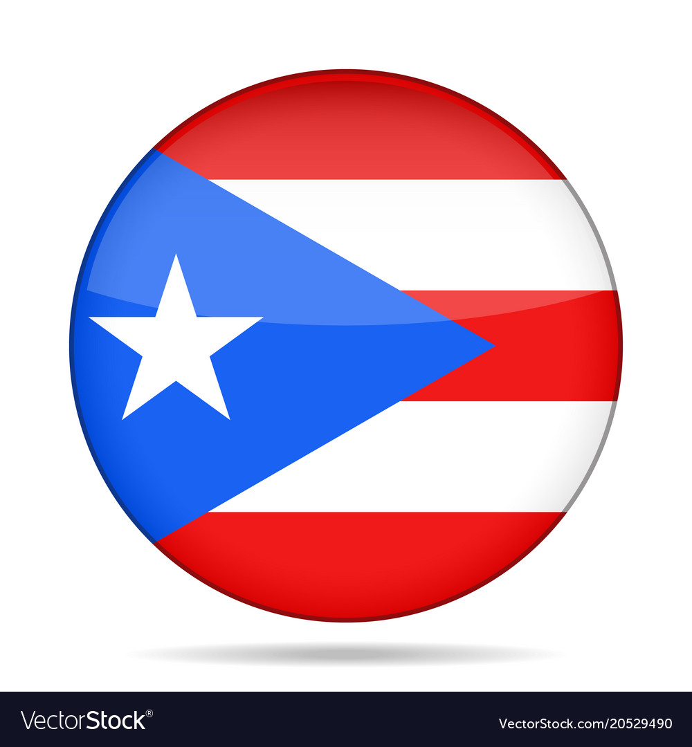 Puerto Rico Flag Round Vector Images (66)