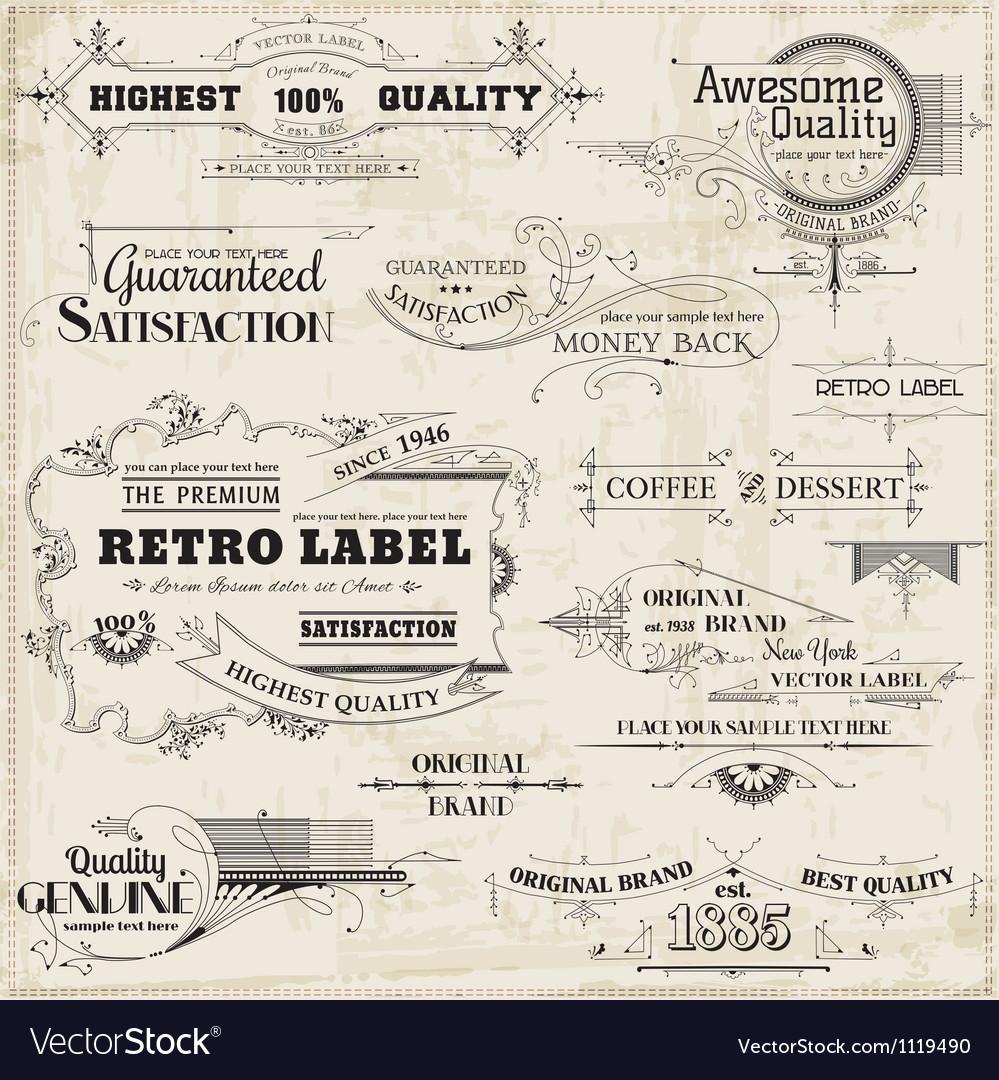 Set calligraphic design elements