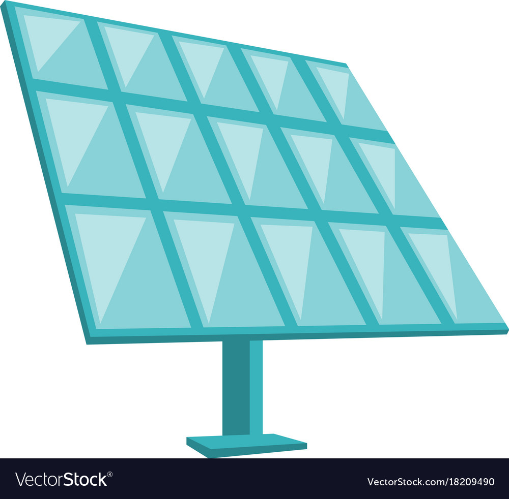 Solar Panel Cartoon Royalty Free Vector Image Vectorstock