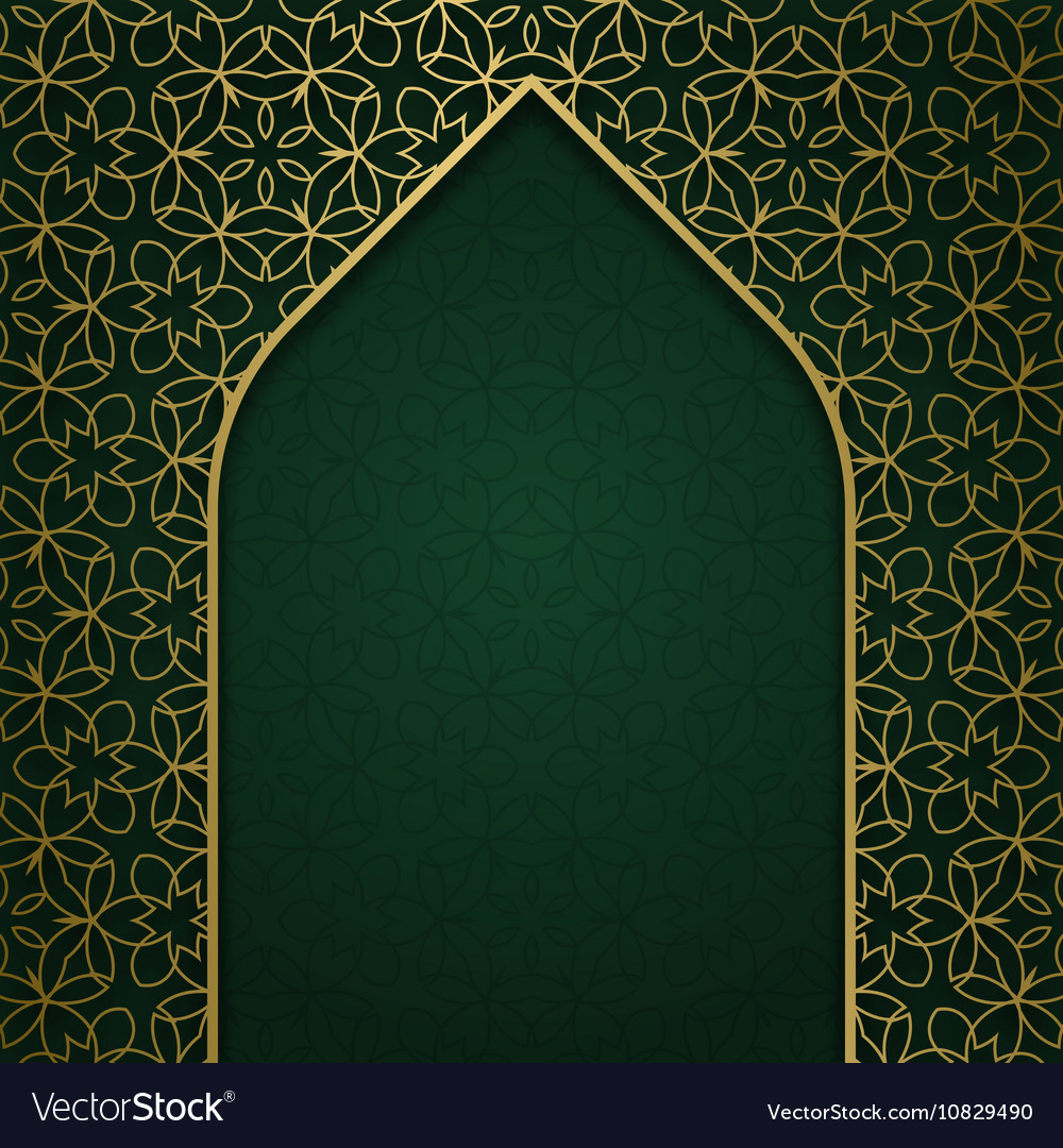 Traditional ornamental background with arched