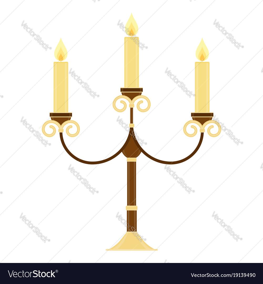 Vintage candelabrum isolated