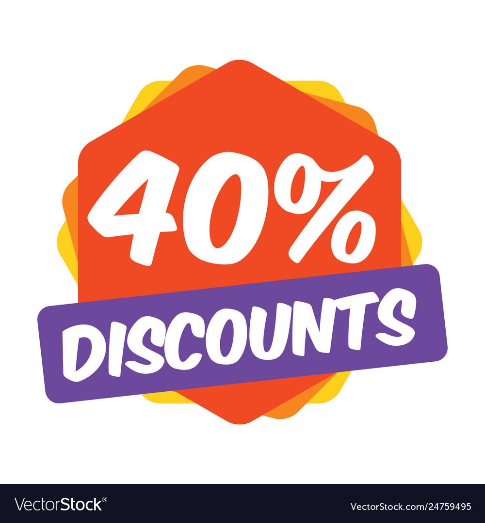 40 off discount promotion sale sale promo market
