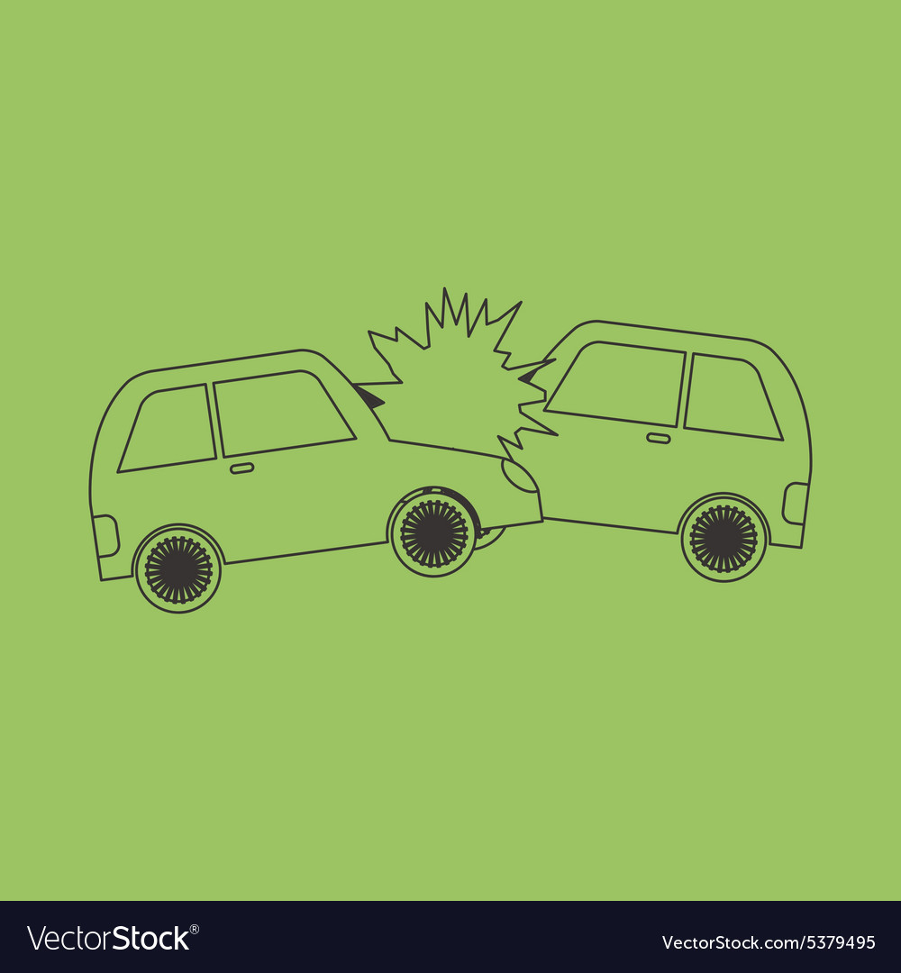 Accident two cars design icon