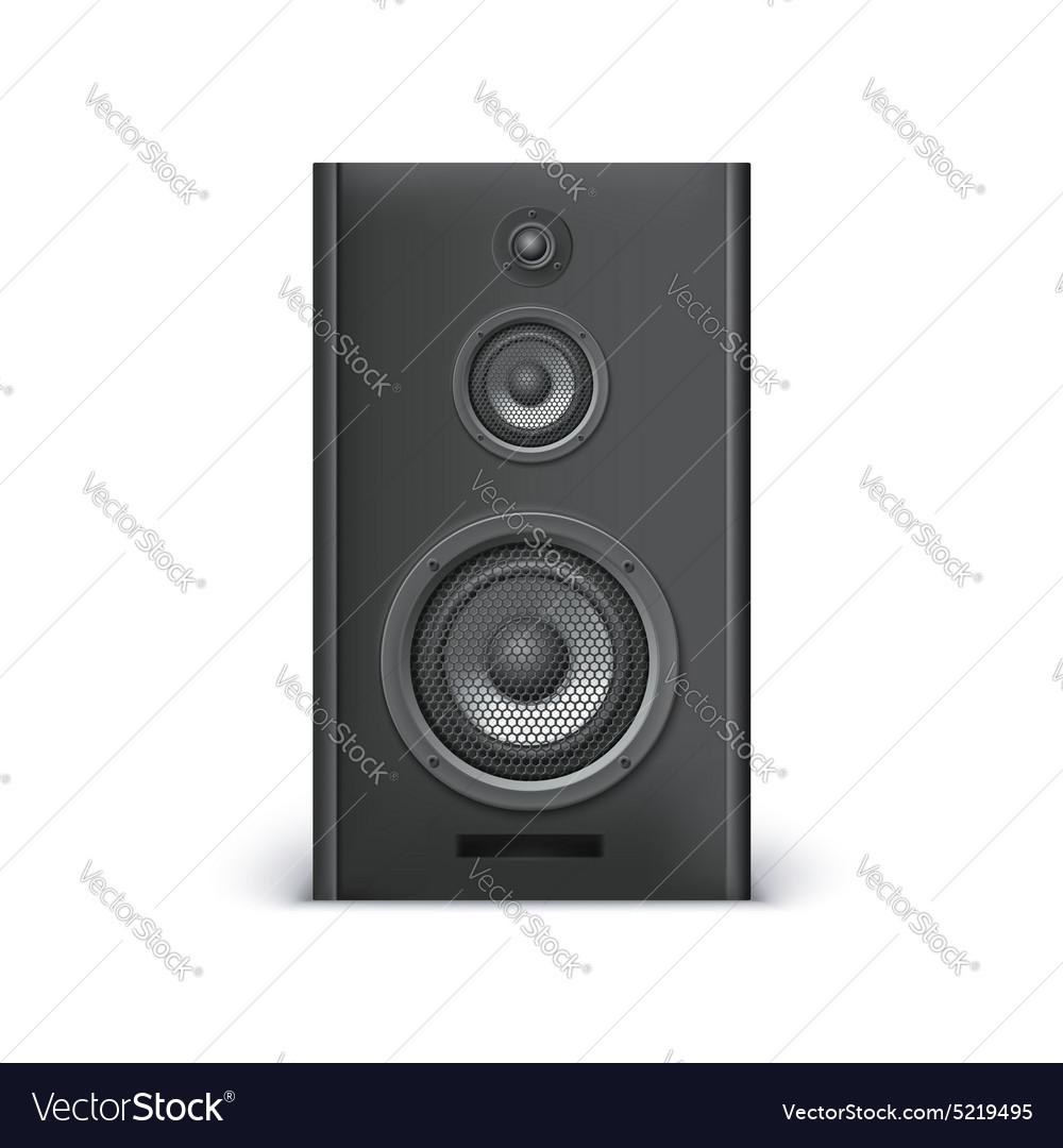 Black sound speaker vector image
