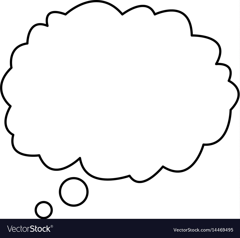 cloud talking speech outline design royalty free vector