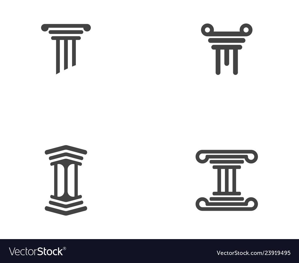 Column icon logo template
