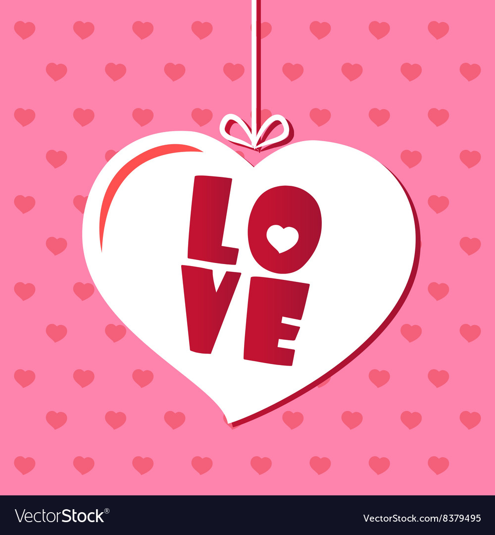Love card Valentines day Font Pink