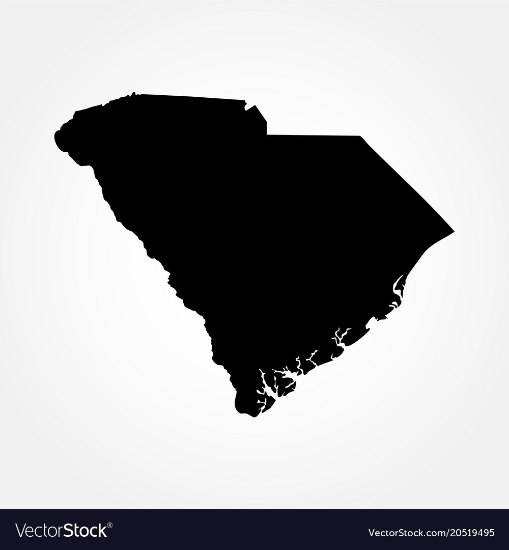 Map Of The Us State Of South Carolina Royalty Free Vector