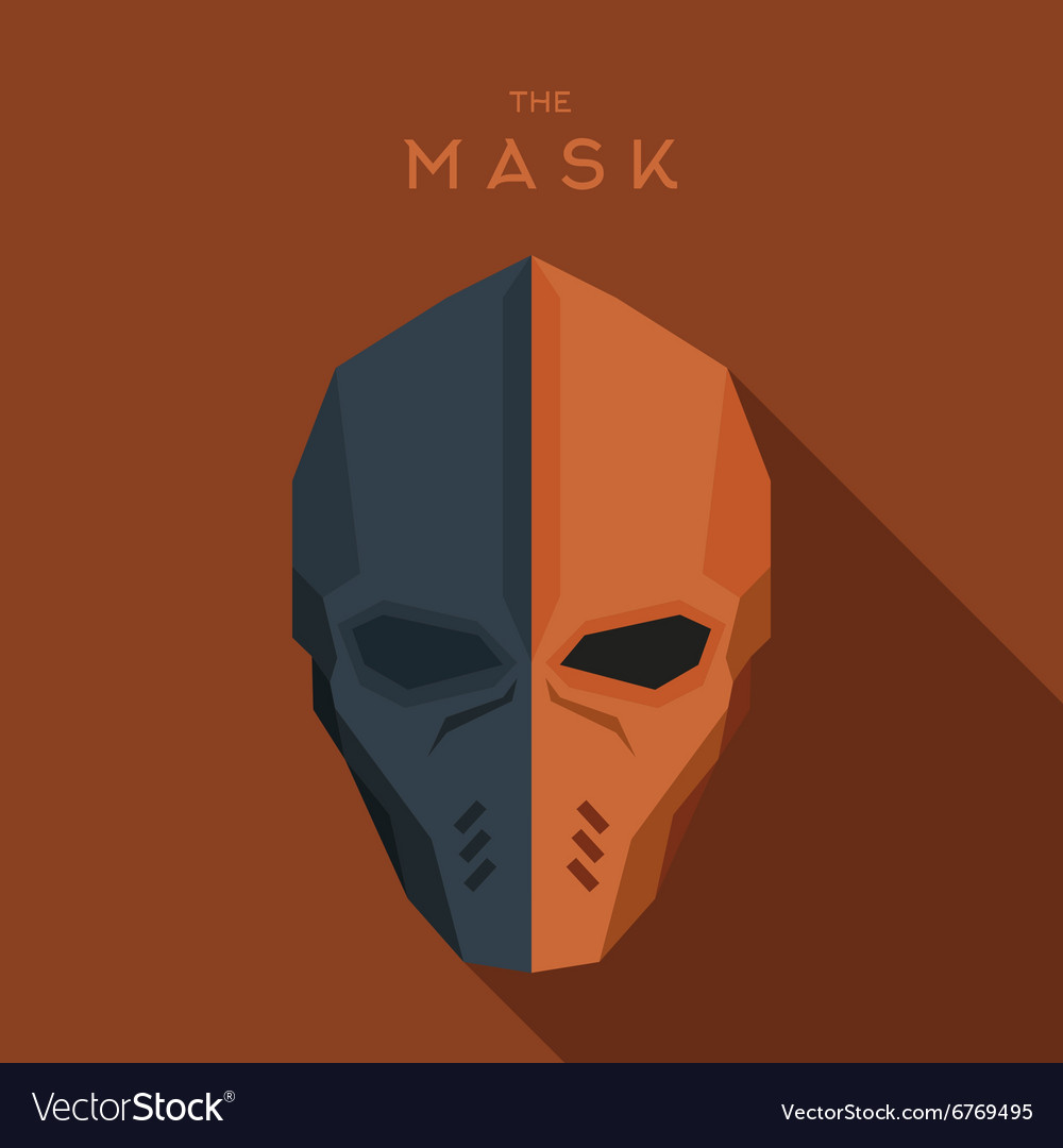 Orange and gray mask of the hero anti-hero a