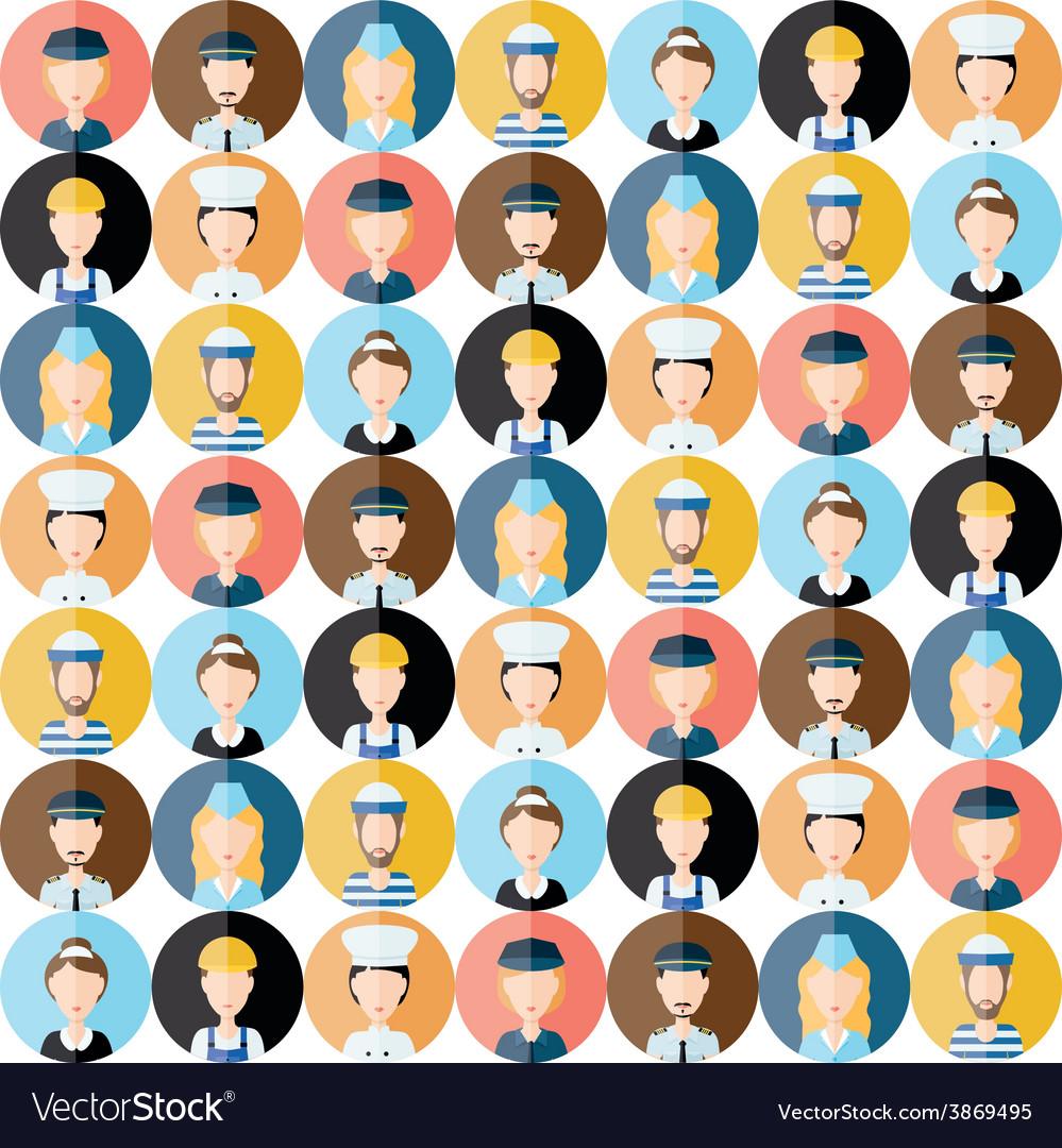 People head seamless pattern