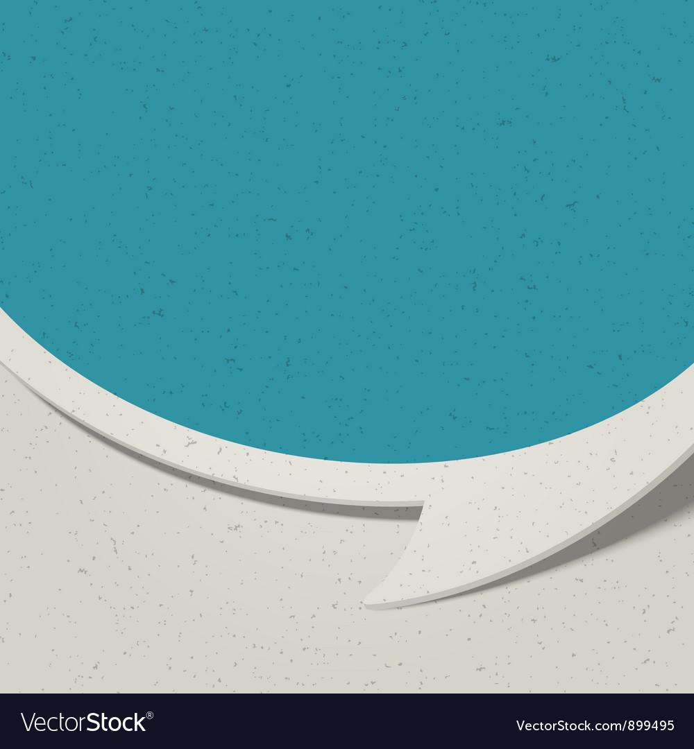 Retro speech bubble background vector image