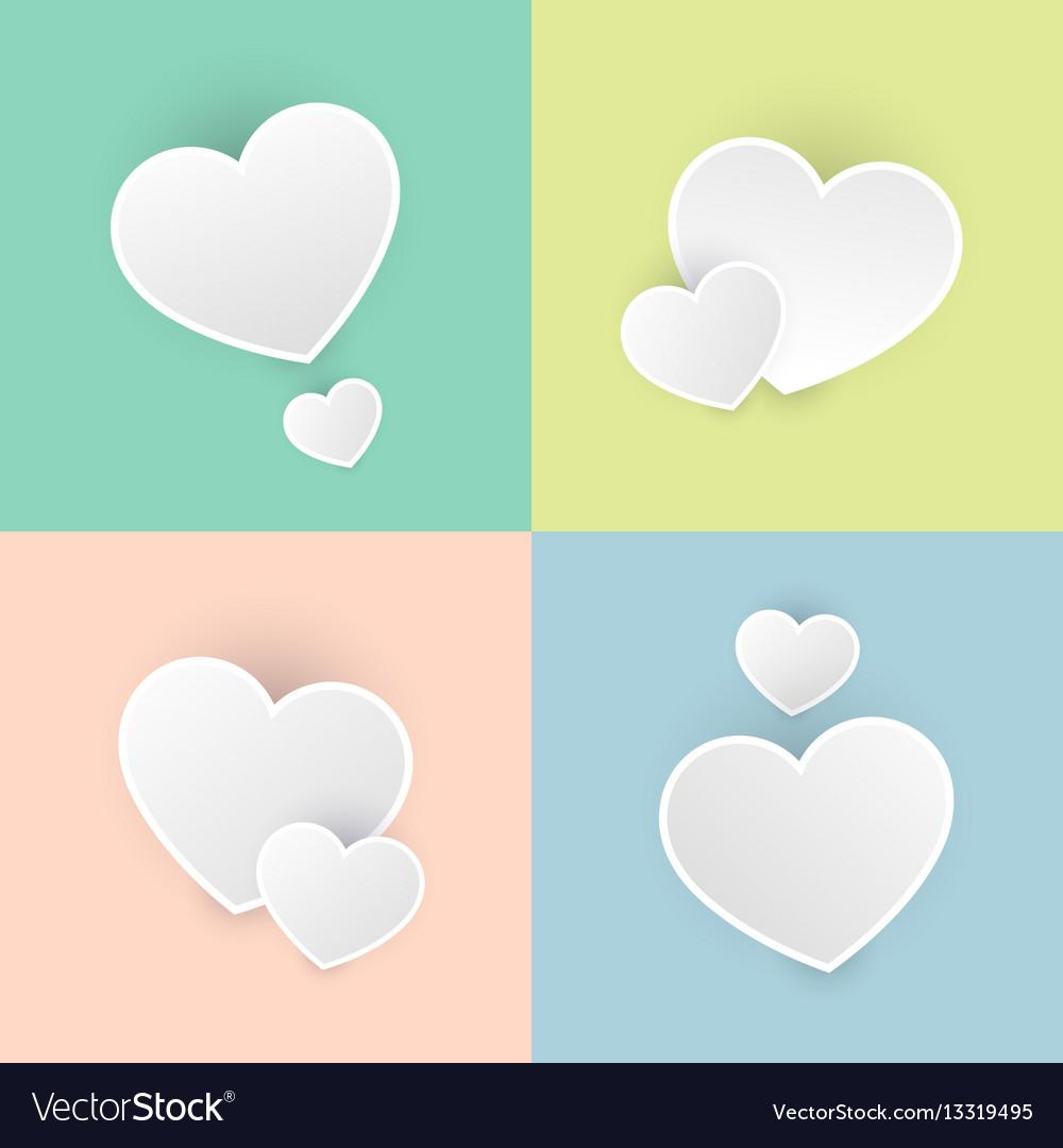 Set happy valentines day color pastel icon symbol vector image