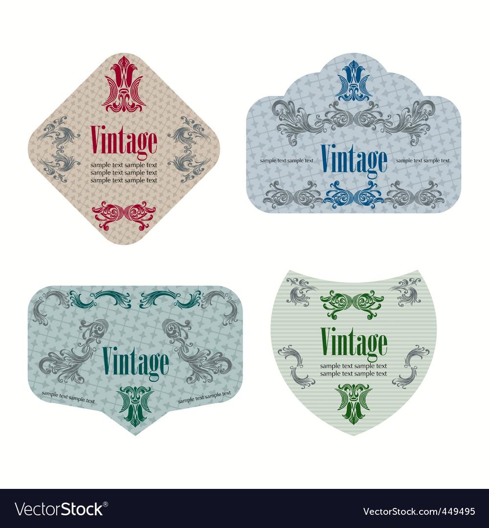 Wine labels19 vector image