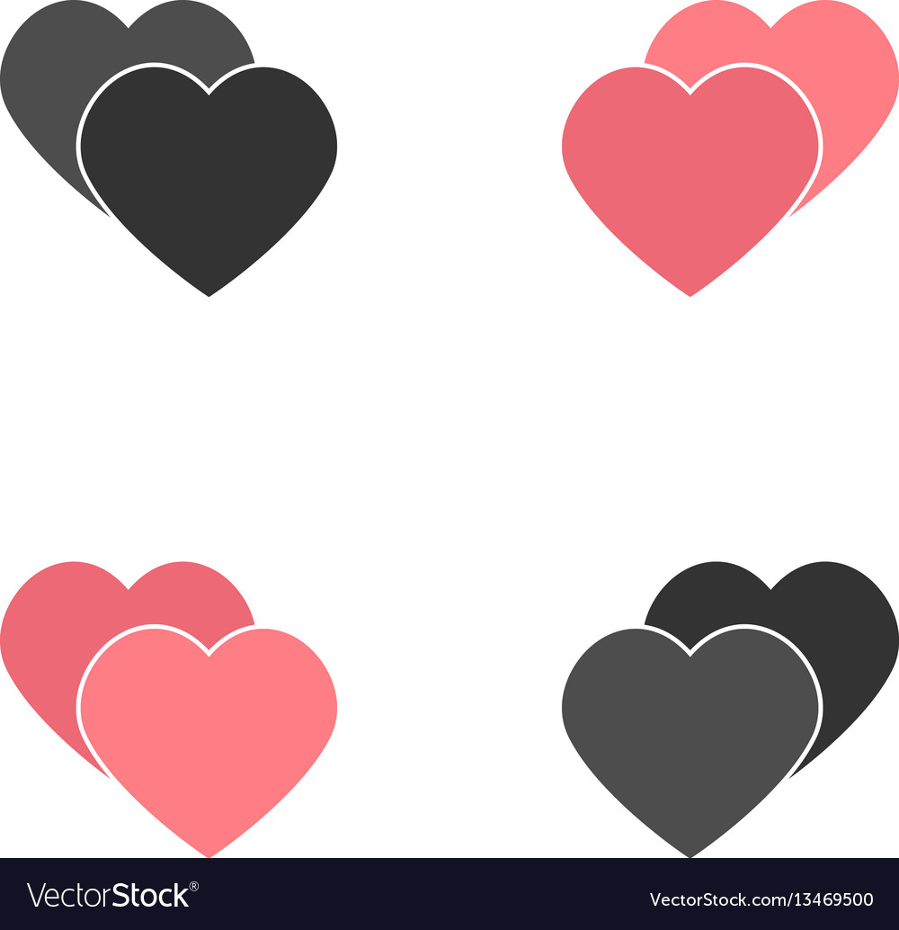 Abstract heart element for design