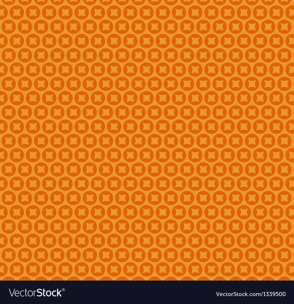 Abstract orange simple seamless pattern vector image