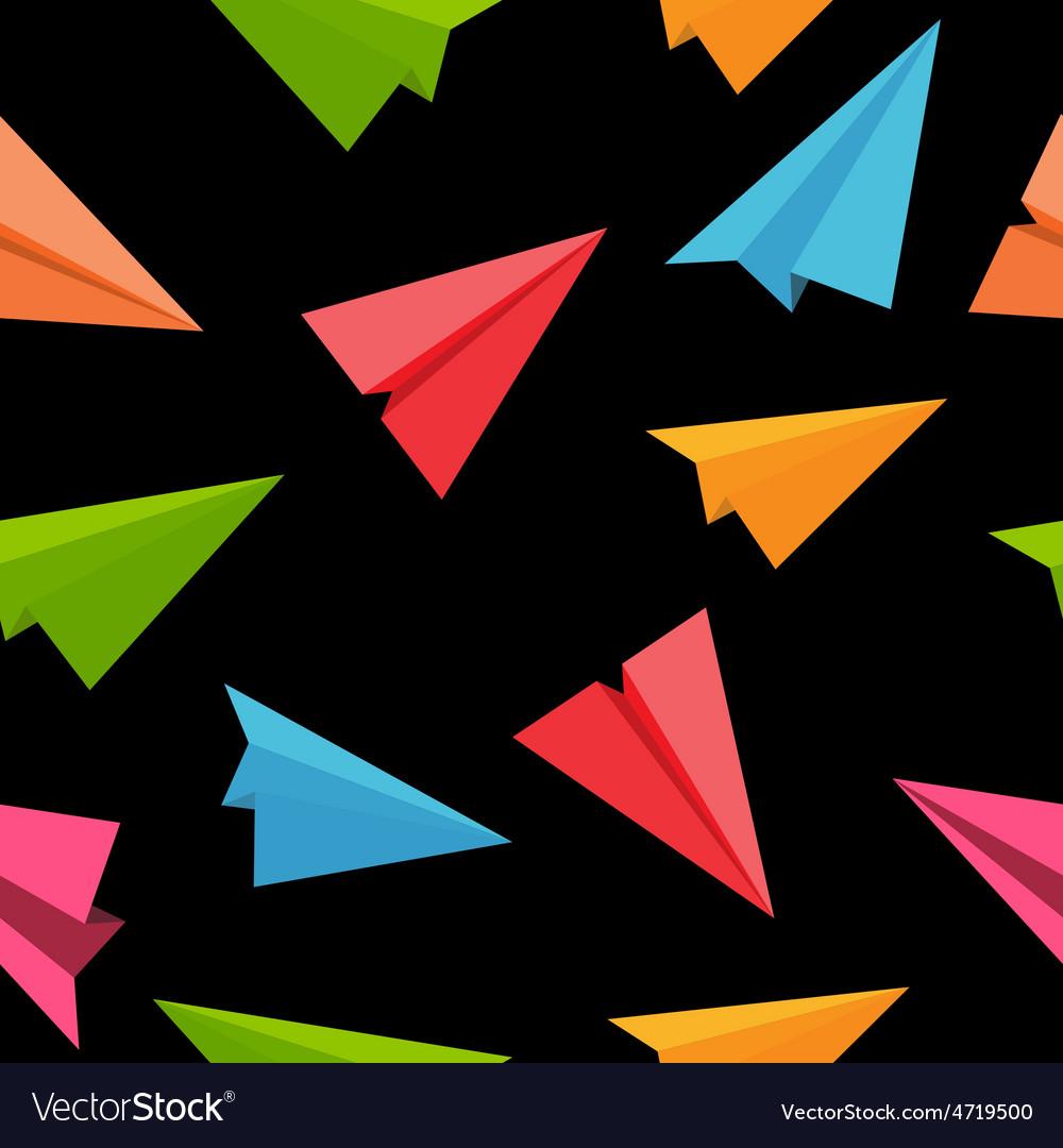 Airplane Seamless Pattern Background