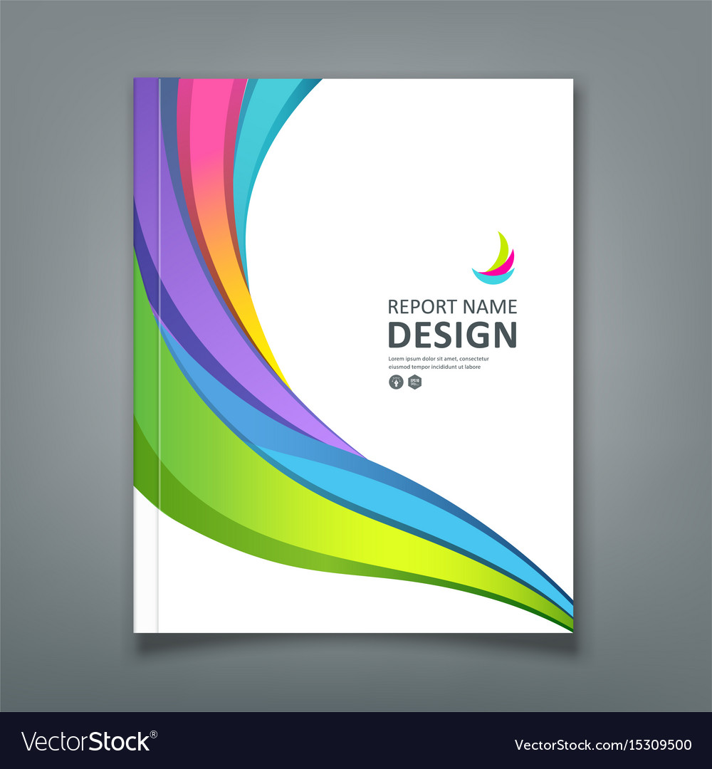 Cover report colorful paper curve design