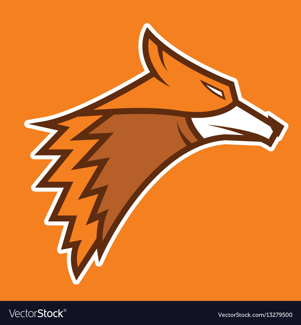 Fox logo icon on background isolated vector image
