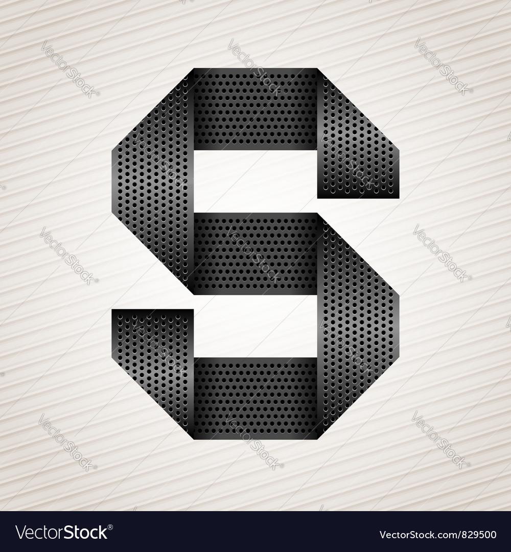 Letter metal ribbon - S