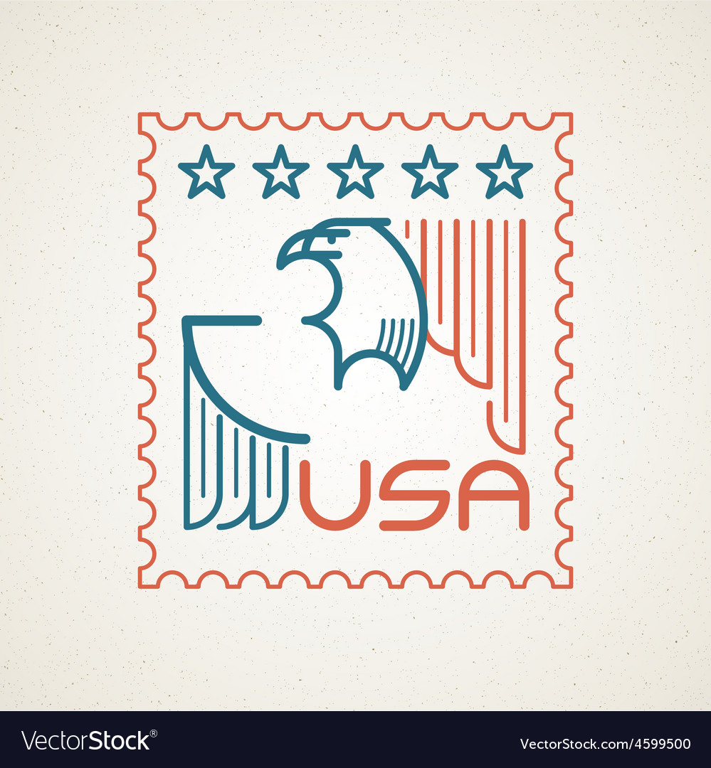 Made in the USA Symbol with American flag and
