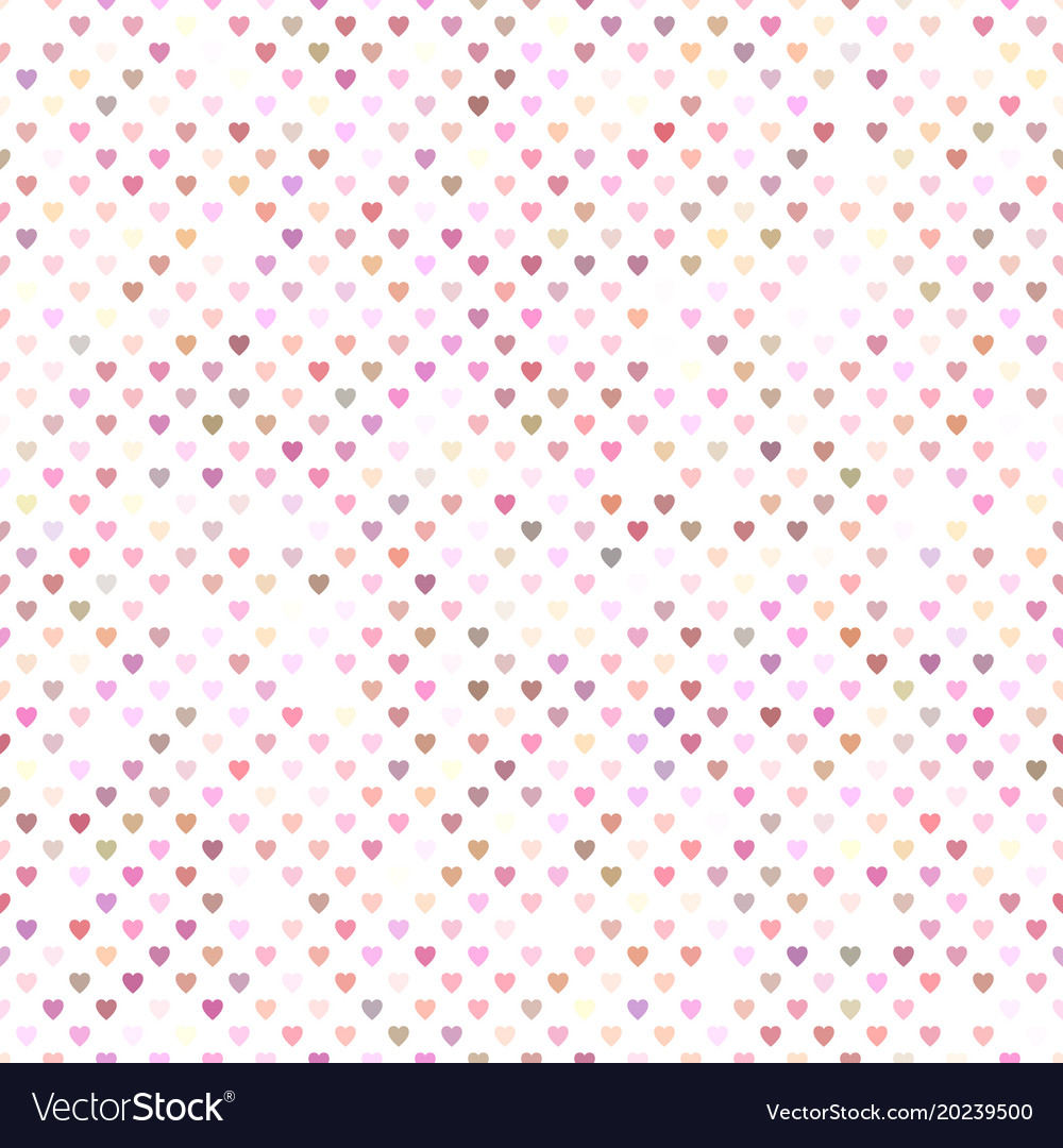 Seamless pink heart pattern background design vector image